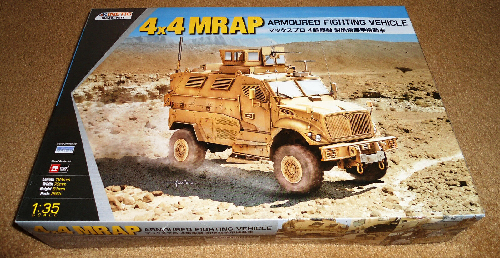 Kinetic 1 35 4X4 MRAP Armored Fighting Vehicle