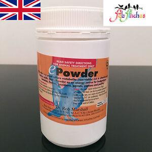 Supplément de vitamines d'élevage d'oiseaux haut de gamme en poudre Dr Rob Marshall E Tous les oiseaux 5060475250947