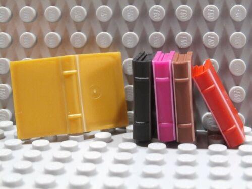 Lego Libro ~ Minifigure Utensile 2x3 Accessorio Black Pearl Oro Rosso Marrone