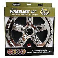 "2 New Wheelies Lawn Garden Tractor Wheel Covers Hub Caps for 12"" Tires GV182"