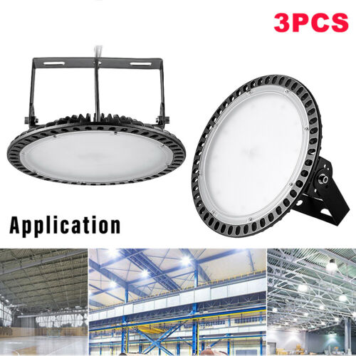 LED High Bay Light 100//200//300W Factory Garage Lighting UFO Warehouse Floodlight