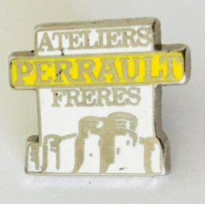 Ateliers-Perrault-Freres-Advertising-Pin-Badge-Rare-Vintage-C18