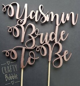 PERSONALISED-BRIDE-TO-BE-WOODEN-CAKE-TOPPER-NAME-ANY-COLOUR-HEN-PARTY-HAND-MADE