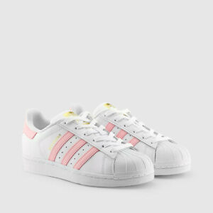 adidas superstar light pink white