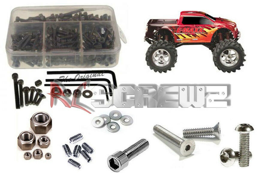 RC Screwz TRA002 Traxxas E-Maxx Stainless Steel Screw Kit