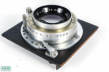 Kodak 152mm F/4.5 Ektar with Graflex Auto Stop-Down Aperture