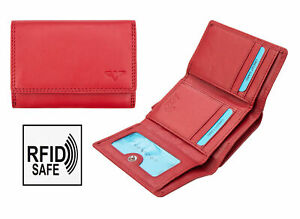 Small Red Leather Trifold
