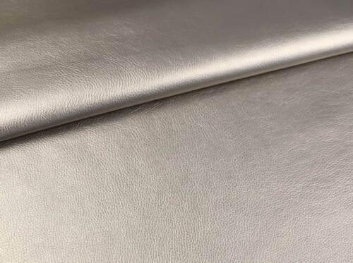 Piel de imitación Nappa Brilliant gris EUR 16,90//m