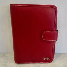 Franklin Covey Day One 1 Planner Faux Leather Red Agenda Binder 7 Ring 10