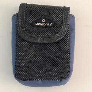 Samsonite Soft Lined Small Digital Camera Bag Hook And Loop Closure