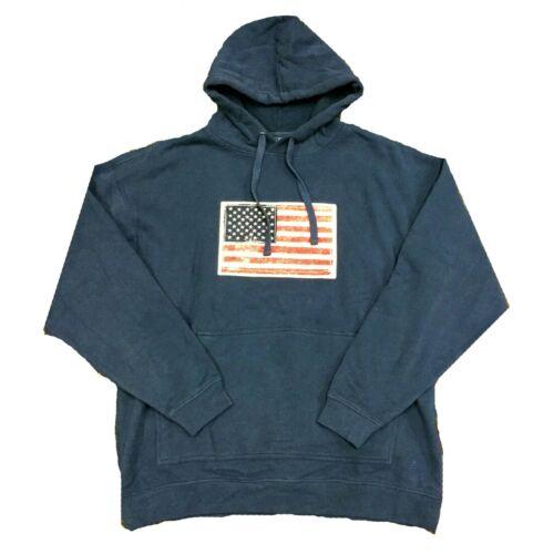 Tregene Mens USA Americana Long Sleeve Pullover Cotton Hoodie Sweatshirt