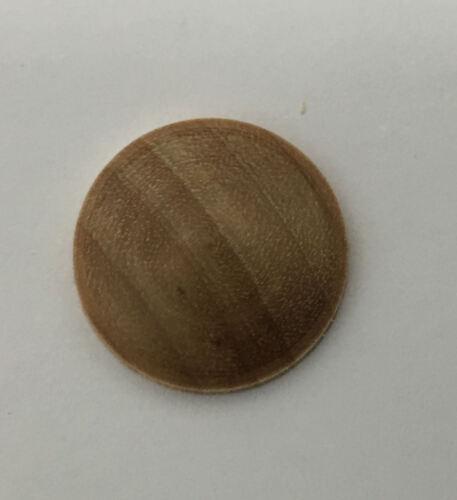 24 x 18mm en bois en forme de dôme bouton type copeaux idéale pour le modélisme