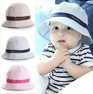 bc6cdb5aeef Kids Baby Cotton Beanie Soft Girl Boy Summer Hat Toddler Infant Kid ...