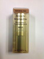 Revlon Moisturestay Moisturizer & Foundation Stick ( Natural Tan ) Spf 15 New.