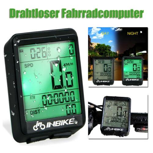 Kabellos Funk Fahrradcomputer LCD Fahrrad Tachometer Radfahren Kilometerzähler