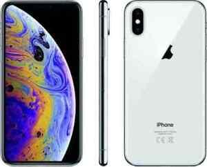 APPLE-IPHONE-XS-64-Go-ARGENT-Desimlocke-4G-ECRAN-5-8-Pouces-12MPx-64Go