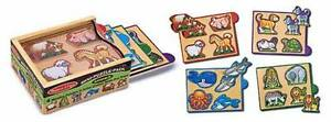 Melissa-amp-Doug-Mini-Puzzle-Animali-della-Fattoria-in-legno-14790-2-4-anni