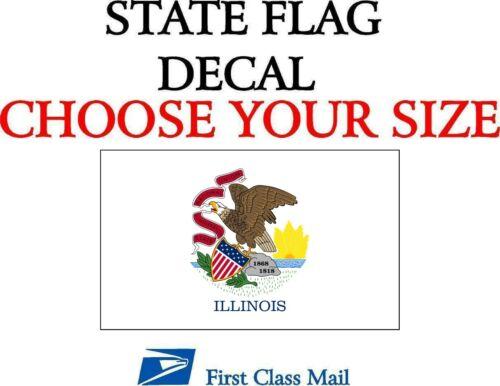 STICKER ILLINOIS STATE FLAG DECAL state flag of Illinois 5YR VINYL