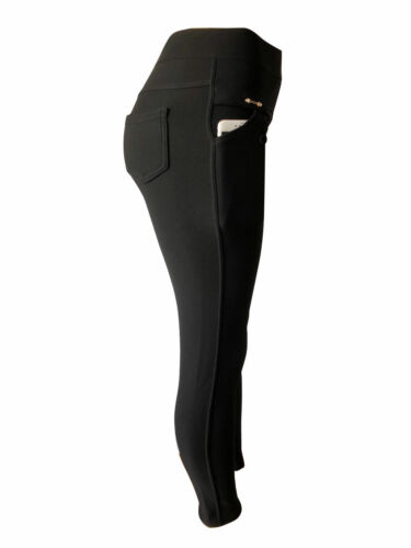 Women Winter Thick Fleece Fur Lined Thermal High Waisted Leggings Pants Pockets