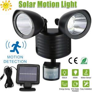 22 LED Dual Security Detector Solar Spot Light Motion Sensor Outdoor Floodlight