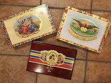 L 3 CIGAR BOXES WOOD ASHTON SAN CRISTOBAL MI AMOR DIVINO LA AROMA DE CUBA EMPTY