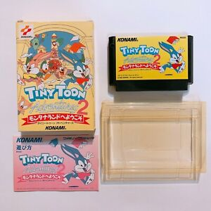 TINY-TOON-ADVENTURES-2-Famicom-with-box-and-manual-Japan-game-FC-NES