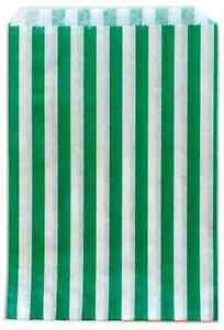 Image Is Loading Traditional Sweet Candy Stripe Paper Bags Green