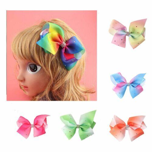 Bow Flower Baby Hair Barrette Diamonds Butterfly Hairpin Grosgrain Ribbon Clip