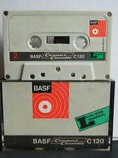 Basf segunda serie 1969 C 120 low-Noise como nuevo unbespiel compact-cassette
