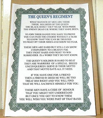 The Queen's Regiment Poem.