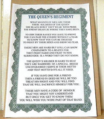 The Queen's Regiment Poem.