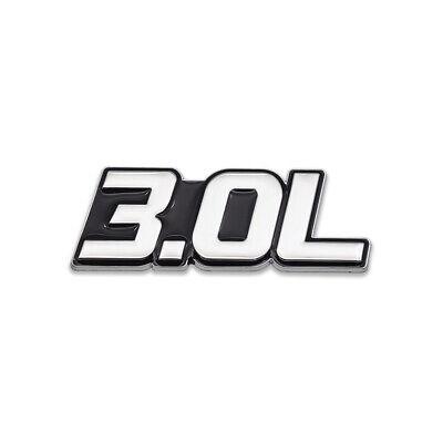 silver black 3 0l logo emblem 3 0 rear badge 3d chrome metal sticker sport decal ebay ebay