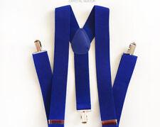 Suspenders / Gallace - Y Back Braces - Unisex Solid Blue Color - 1pc