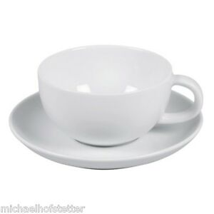 Arzberg-Cucina-Weiss-Teetasse-Tee-Tasse-mit-Teeuntertasse-Unterteller-2-tlg-NEU