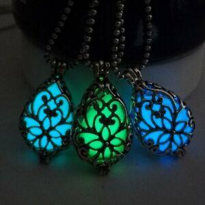 Retro-Hollow-Water-Drop-Pendant-Necklace-Glow-Bright-In-Dark-Copper-Necklace-A