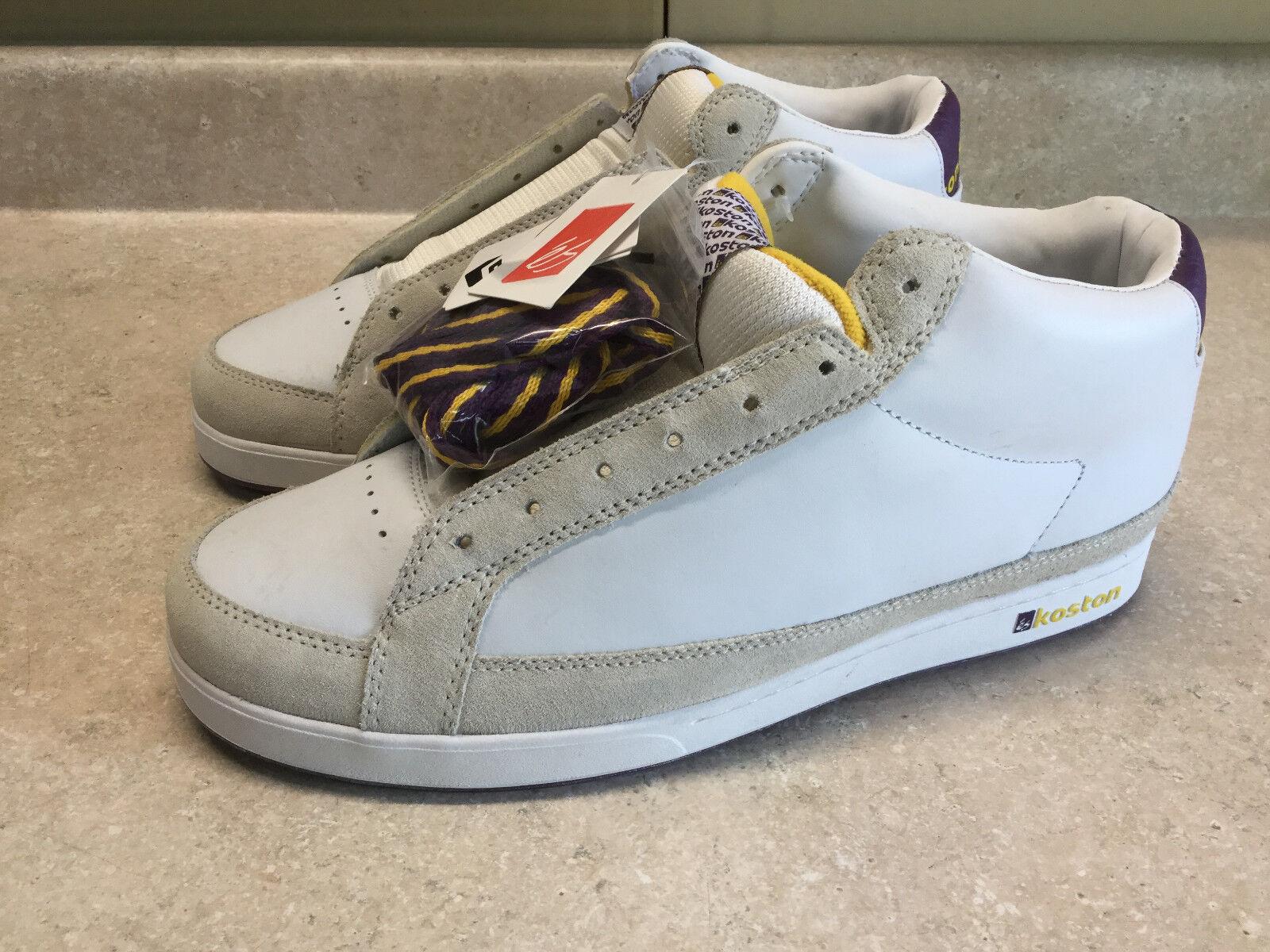 Mens Vintage ES Footwear Eric Koston Size 12 Skate Shoes K6 White Grey Purple