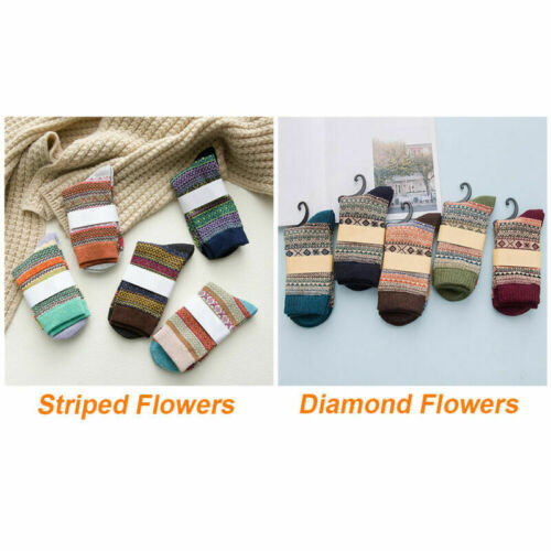 5 Pairs Sports Sock Casual Cashmere Warm Womens Soft Winter Socks Thick Wool Lot