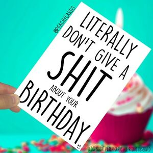 Image Is Loading Funny Birthday Cards Greeting Rude Card Colleague
