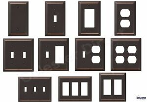 Oil-Rubbed-Bronze-Wall-Switch-Plate-Outlet-Cover-Toggle-Rocker-GFI