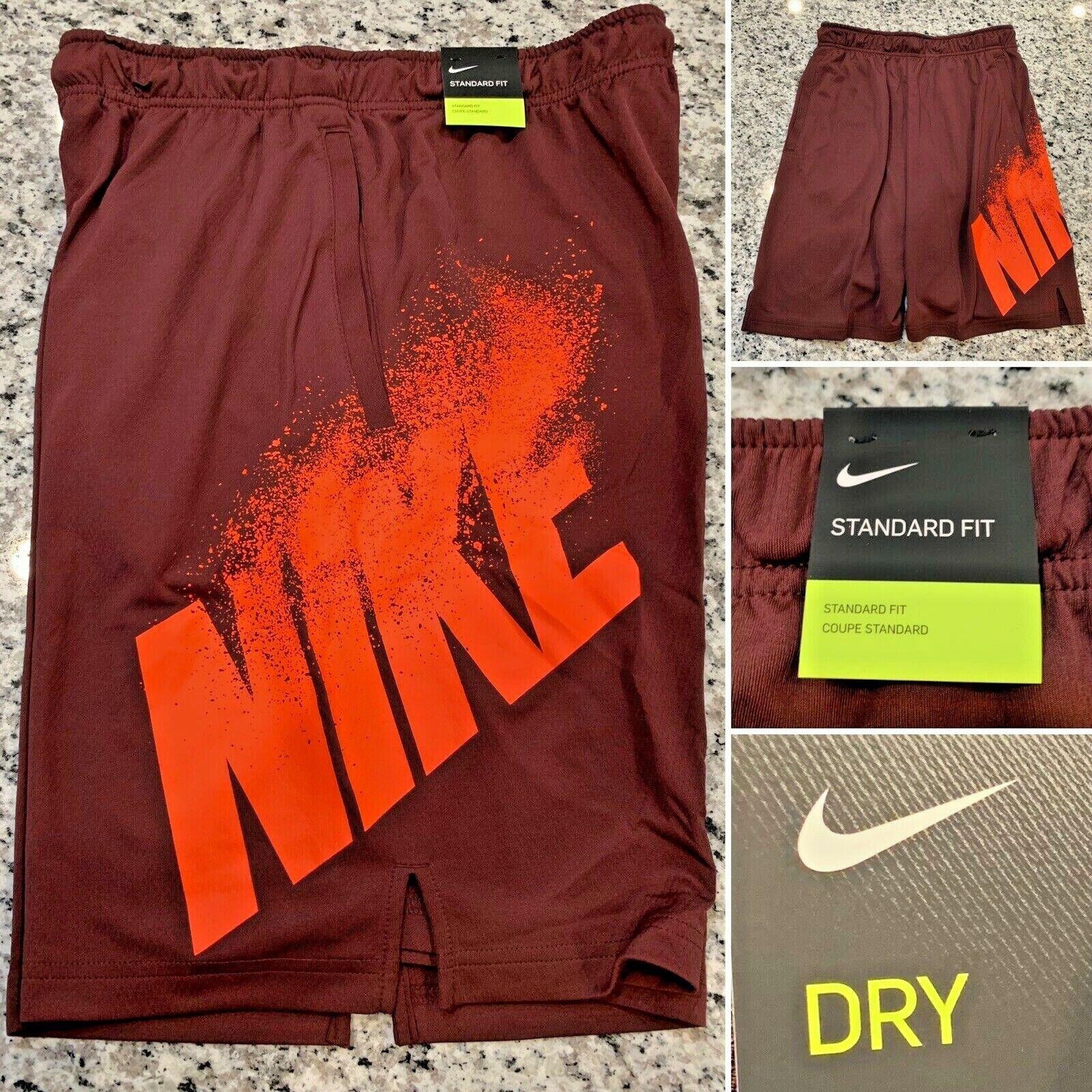 NIKE Dri Fit Maroon Running Training Shorts Mens Sz M NWT Standard Fit NEW