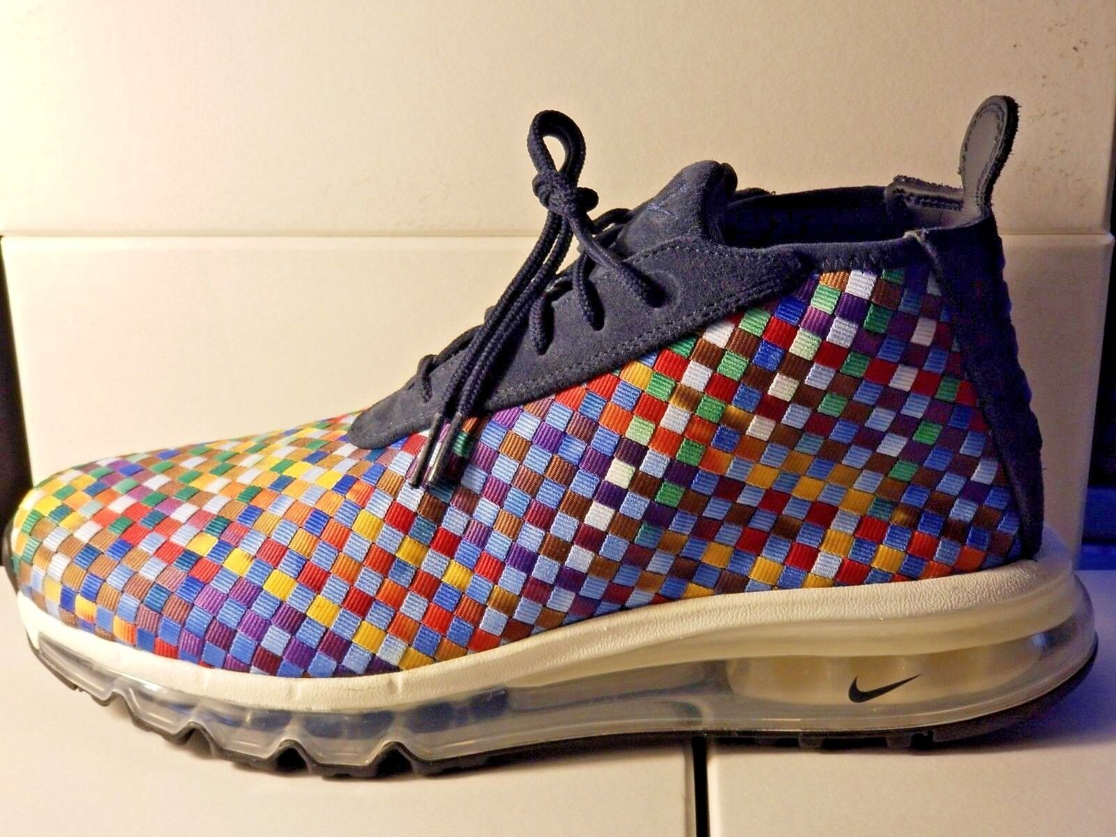 199 Nike Air Max (AH8139400) Woven Boot SE Multicolor Rainbow Mens Size 9.5