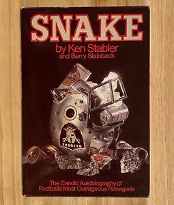 SNAKE-by-Ken-Stabler-HC-DJ-SIGNED-1st-Edition