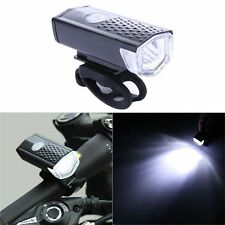 Bike Bicycle USB Rechargeable LED Spot Light Head Lamp Front Lighting 3 Modes
