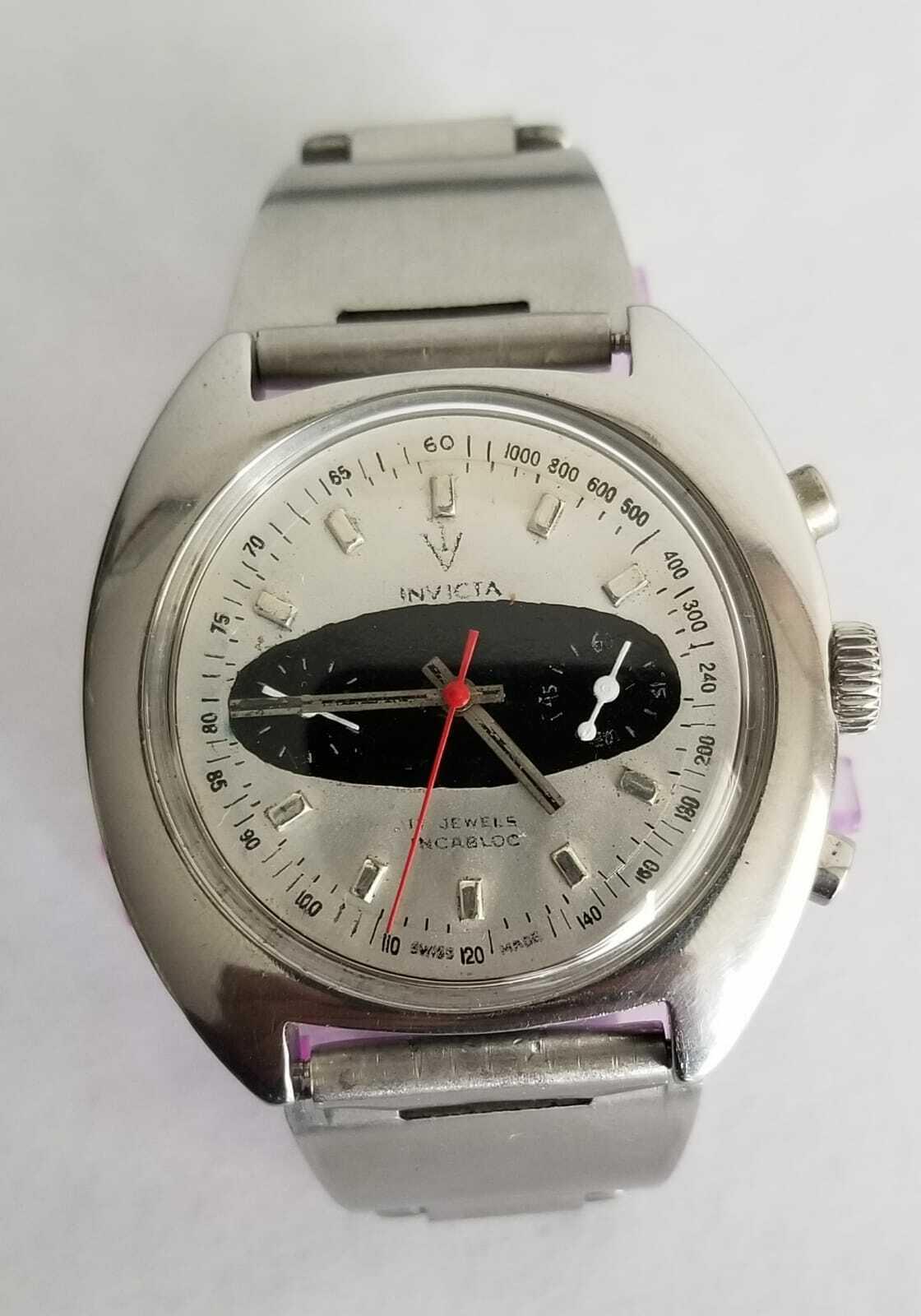Image 1 - 1970s VTG  INVICTA Chronograph Valjoux 7733. Mechanical. Swiss made