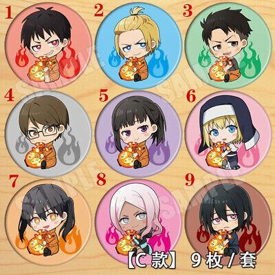 "Anime Mob Psycho 100 badges Pins Schoolbag 5.8CM 2.3/"""