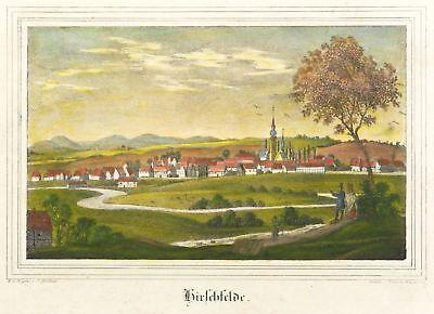 Diskret Hirschfelde (zittau) - Gesamtansicht - Kirchen-galerie - Kolor. Lithografie 1840 Halten Sie Die Ganze Zeit Fit