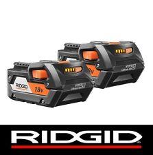 2 RIDGID 18v 18 VOLT LITHIUM 4.0 HIGH CAPACITY BATTERY PACKS BATTERIES R840087