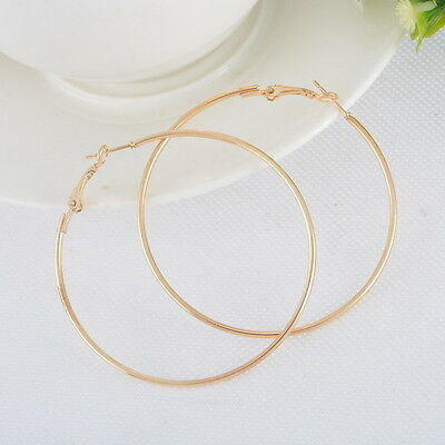 S Big Hoop Earrings 18K White Gold Plated 2014 New Fashion Wave Curvy