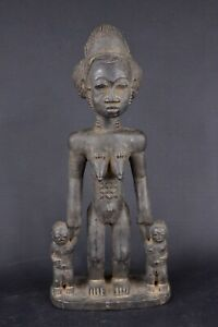 Statue-africaine-baoule-de-Cote-d-039-Ivoire-en-bois-2017-452