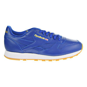 5a6c857a4fad4 Reebok Classic Leather Men s Running Shoes Royal Gold White Gum ...